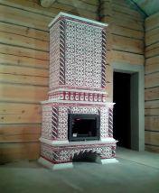 Изразцовый камин в боярском стиле