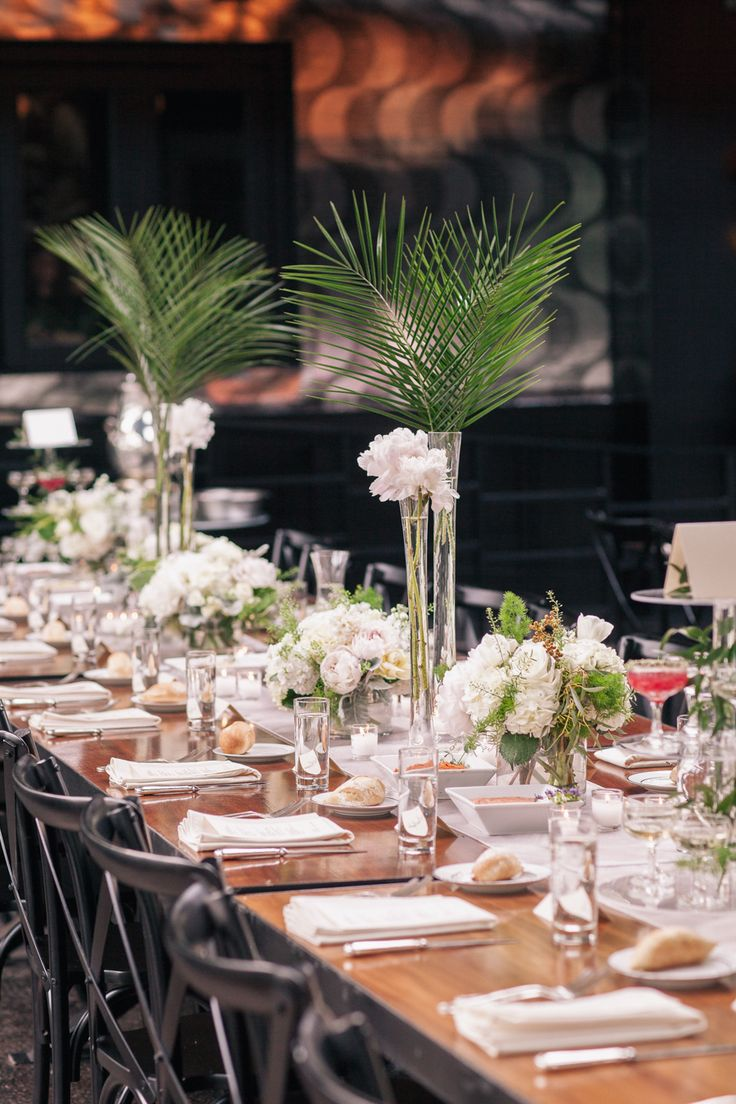 204 best wedding dream images on pinterest wedding ideas for Long table centerpieces