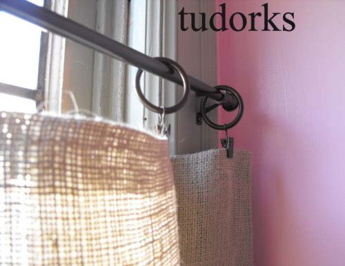 My DIY Burlap Curtains