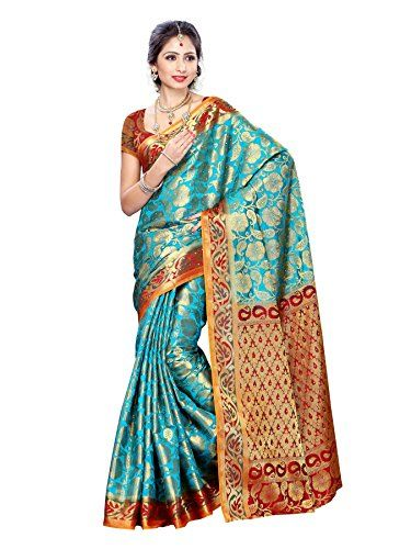 Mimosa Women Kanchipuram Art Silk Saree With Contrast Blouse (Multi-Coloured ,3167-139-SAFF-MRN) Check more at http://www.indian-shopping.in/product/mimosa-women-kanchipuram-art-silk-saree-with-contrast-blouse-multi-coloured-3167-139-saff-mrn/