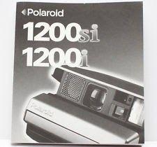 Polaroid Spectra 1200si 1200i Instant Film Camera Manual Guide Instructions