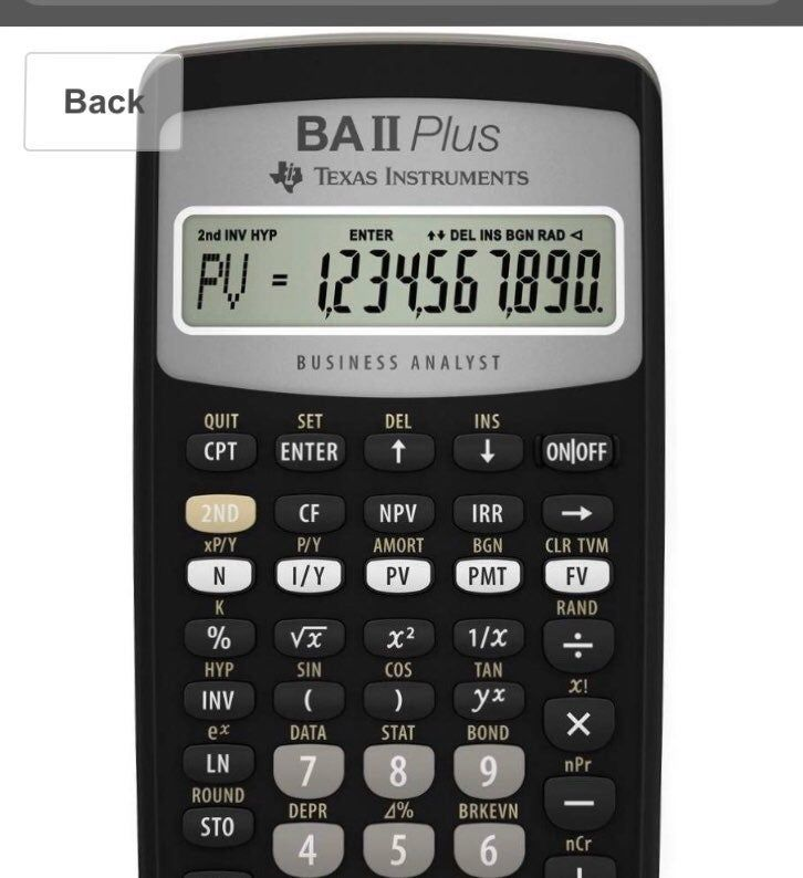 Texas Instruments Business Analyst II Plus Financial Calculator Product  Dimensions 6.5 x 0.7 x 3 in… | Financial calculators, Business analyst,  Graphing calculator