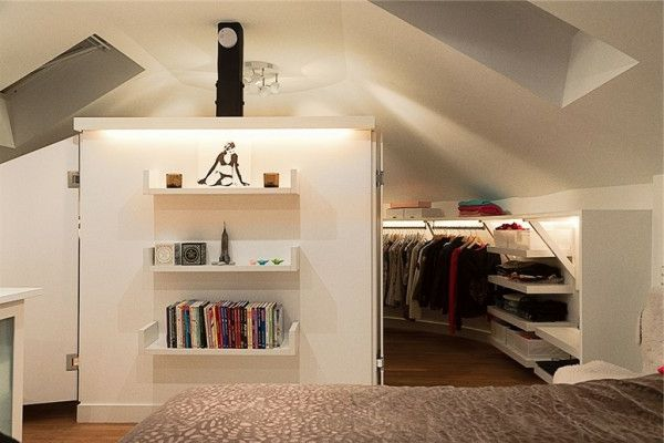 Un dressing mansarde des id es cr atives pour l 39 usage efficace de l 39 - Dressing chambre mansardee ...