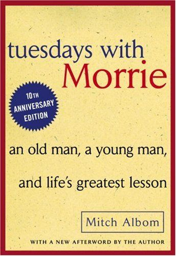 Tuesdays with Morrie is a 1997 non-fiction novel by American writer Mitch Albom. After seeing Schwartz on Nightline, Albom called Schwartz, who remembered his former pupil despite the lapse of 16 years. The resulting book is based on fourteen Tuesdays they meet, supplemented with Schwartz's lectures and life experiences and interspersed with flashbacks and allusions to contemporary events.