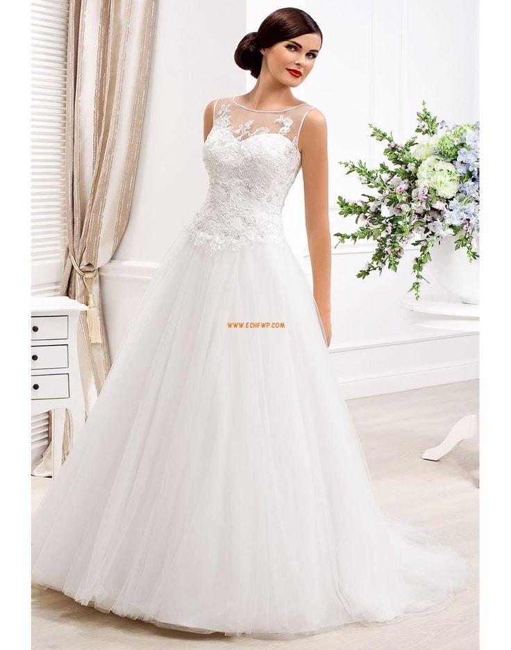 Princesové Délka dvorní Lodičkový výstřih Svatební šaty 2014