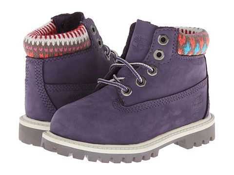 "Timberland Kids 6"" Classic Boot (Toddler/Little Kid) Purple/Multi - 6pm.com"
