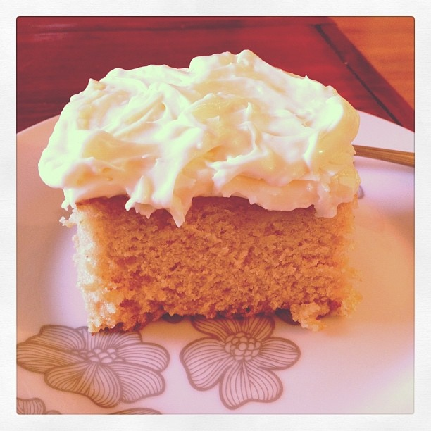 Pineapple Cake with Citrus Cream Cheese Frosting