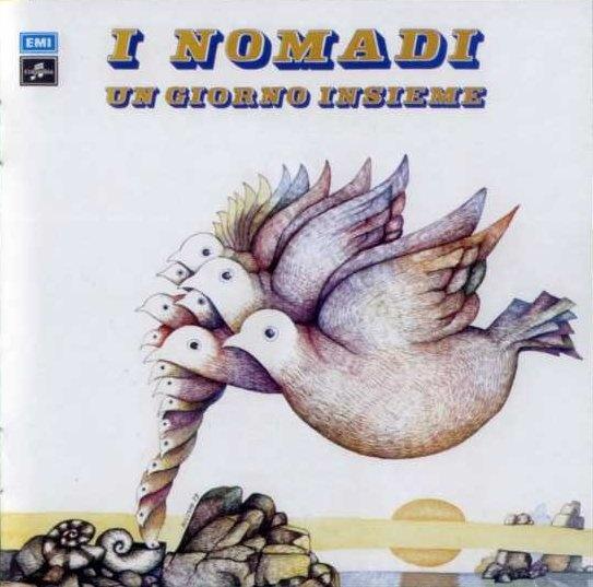 """Augusto Daolio 1973 I Nomadi - Un Giorno Insieme / Crescerai (7"""") [Columbia] #albumcover #fantasy #Prog-Rock"""