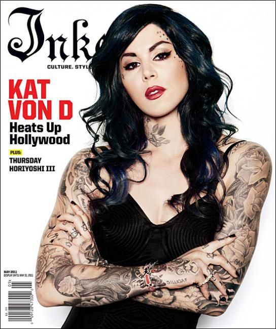 Kat Von D is so badass! Now that's a sleeve!