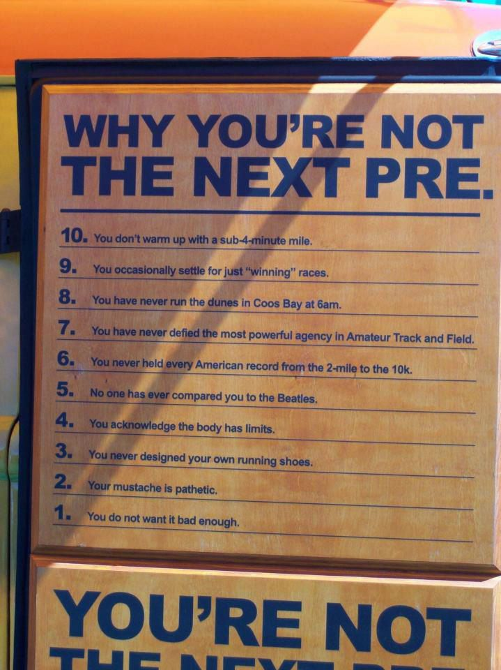 Why You're Not The Next Pre