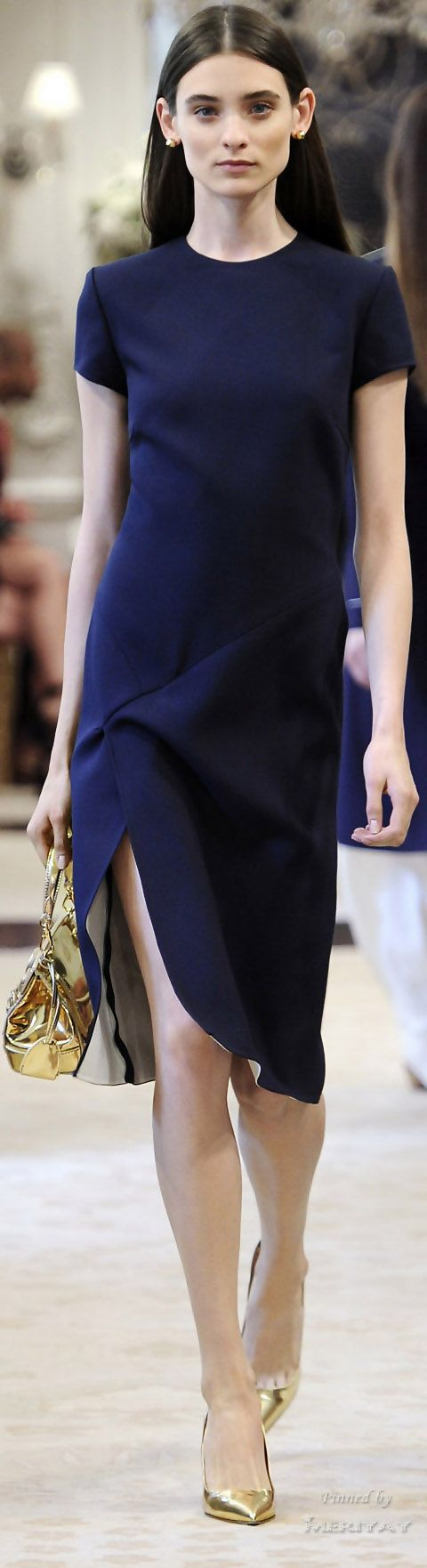 Ralph Lauren Resort 2015. ||  The little black dress in midnight...