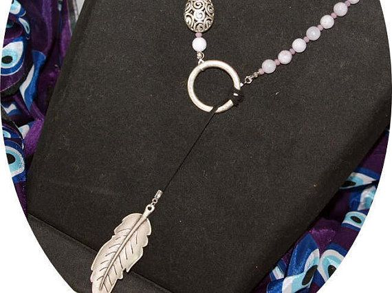 Agate and Crystal Stone Necklace Leaf Necklace Design