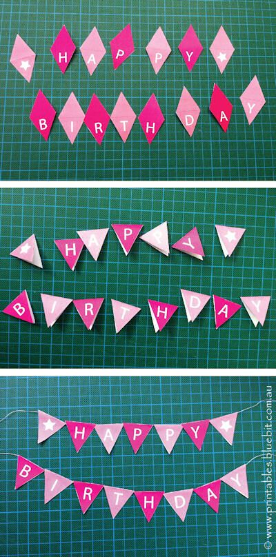 Printables - Free Craft Cake Bunting