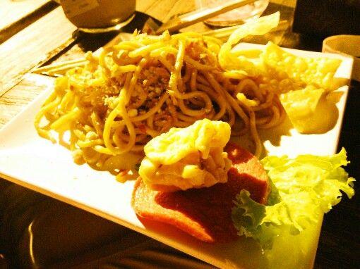 Mie setan cabe 5, hot noodle #malang #indonesia #unique