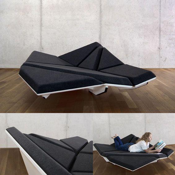 Alexander Rehn : Cay Lounge | Assise hybride et multifonction, éditée par Structures Editions. A la fois #chaise longue, méridienne, canapé.