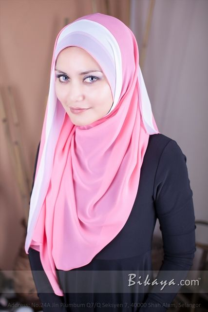 plain chiffon long shawl
