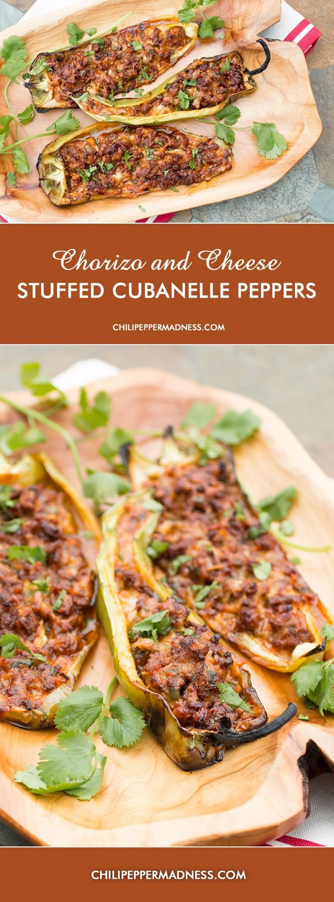 Grilled Chorizo and Cheese Stuffed Cubanelle Peppers | Chili Pepper Madness