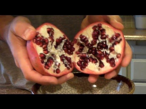 youtube how to get seeds out of a pomegranate