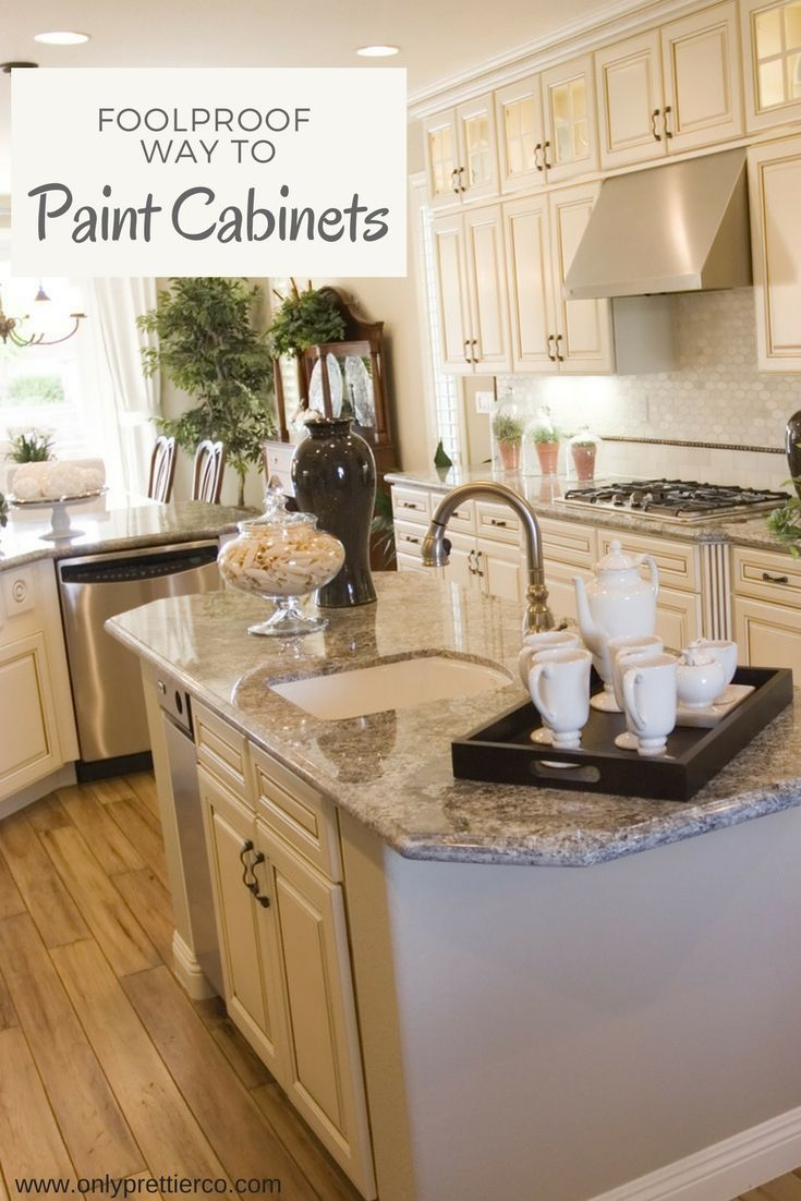The Best Way To Paint Kitchen Cabinets Diy Painted Kitchen Cabinets With No Sanding Painting Cabinets Kitchen Cabinets Painting Kitchen Cabinets