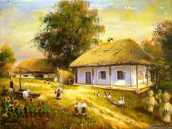 Рисунок казачьи хаты
