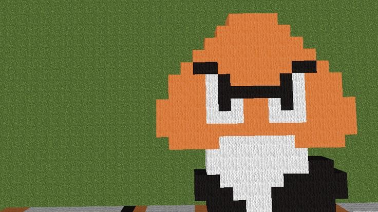Walking mushroom of evil: a small part of a large project.: Pixel Art, Large Project, Walking Mushroom
