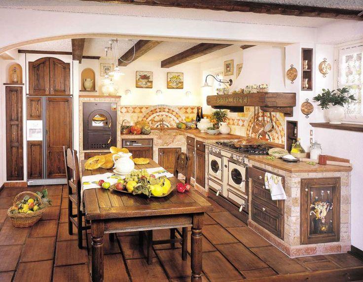 Cucina in muratura rustica n.03