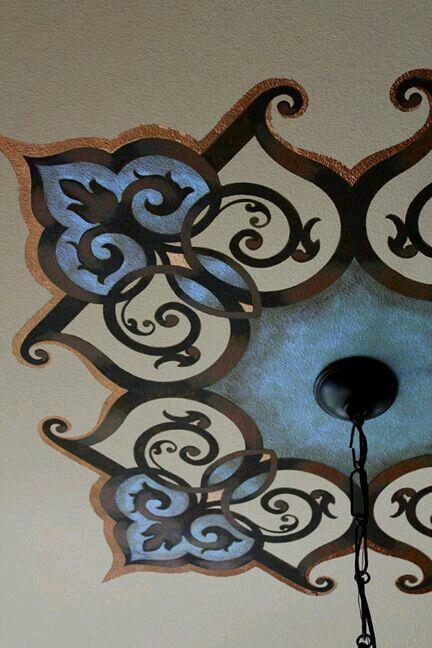 Pintura decorativa teto