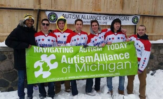 It's amazing what a group of fraternity brothers can do when they band together for a good cause.  #AlphaSigmaPhi and #PiKappAlpha at the University of Michigan are hosting the annual Winterfest Broomball Tournament this Saturday. 19 fraternities and sororities will be competing in this year's tournament. All proceeds will benefit the Autism Alliance of Michigan. If you would like to contribute to their campaign, visit…