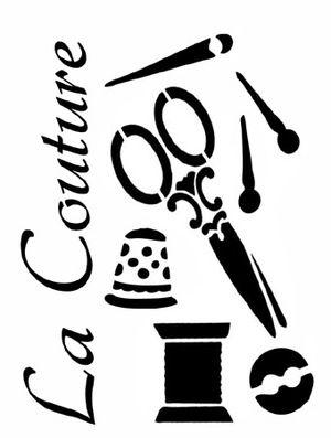 pochoir adh sif home d co 12 x 10 cm kit couture ecriture pochoirs pinterest boutiques. Black Bedroom Furniture Sets. Home Design Ideas
