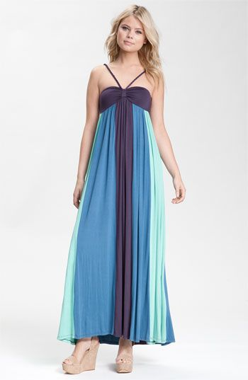 love this maxi dress in the colors of the ocean