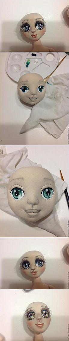 Мастер-класс по раскраске кукольных глазок - Ярмарка Мастеров - ручная работа, handmade