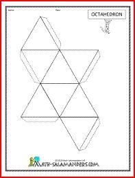 Octahedron net, printable net for octahedron