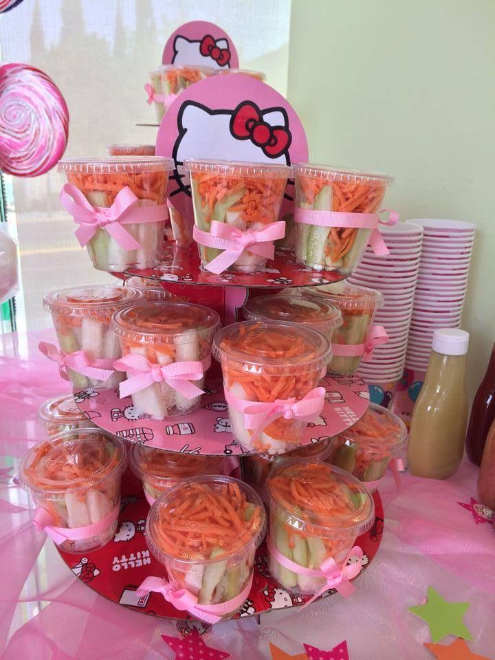 Botana para fiesta de kitty kitty party pinterest for Como decorar mesa de postres para baby shower