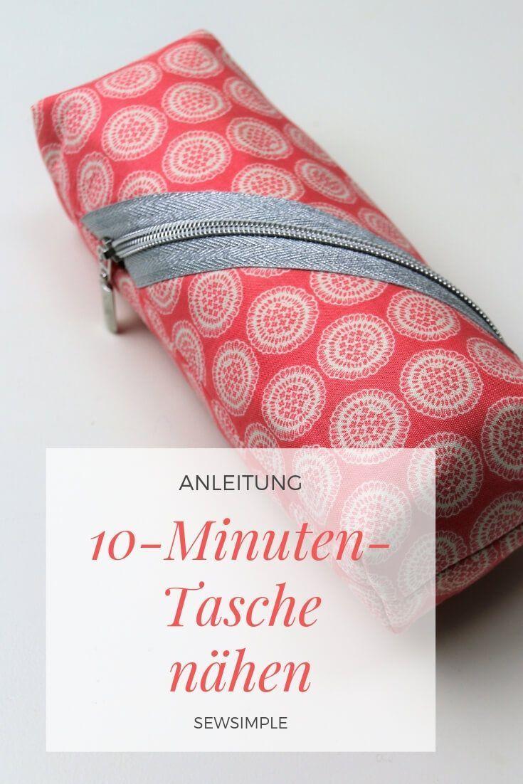 In 10 Minuten eine Tasche nähen – das funktioniert! Natürlich klar! Sie wird mit …   – Aus Stoff