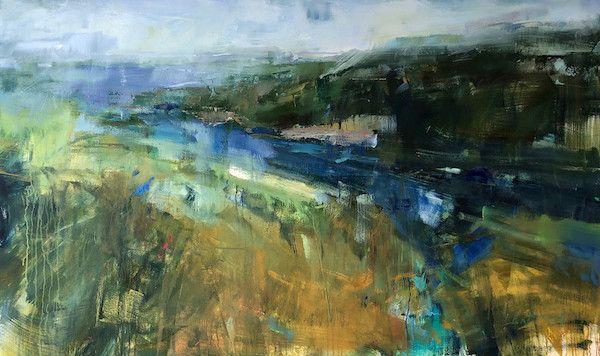Featured Artwork Georganna Lenssen Abstract Landscape Painting Artwork Abstract Landscape