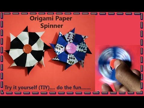 How to make easiest paper spinner by Art House | Very very easy paper sp...