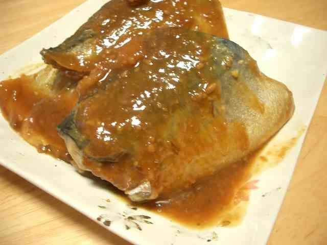 サバの味噌煮 定番のサバ味噌です(^_^)フライパンで作ります。とろっとした味噌がおいしい♪