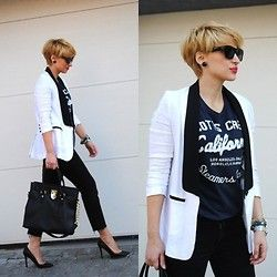Menswear for women - tuxedo jacket