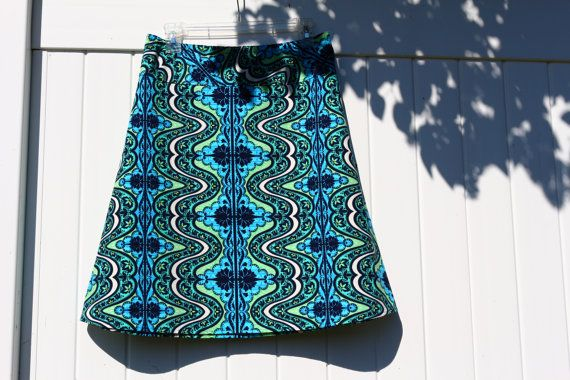 Gypsy Blue A Line Skirt Amy Butler Lark Dreamer by SewingBySelena, $48.00