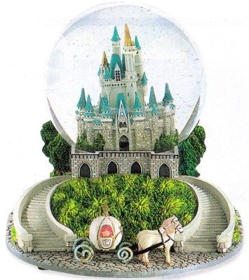 Disney Cinderella Castle Snowglobe - A must get at Disney to add to our collection of vacation globes
