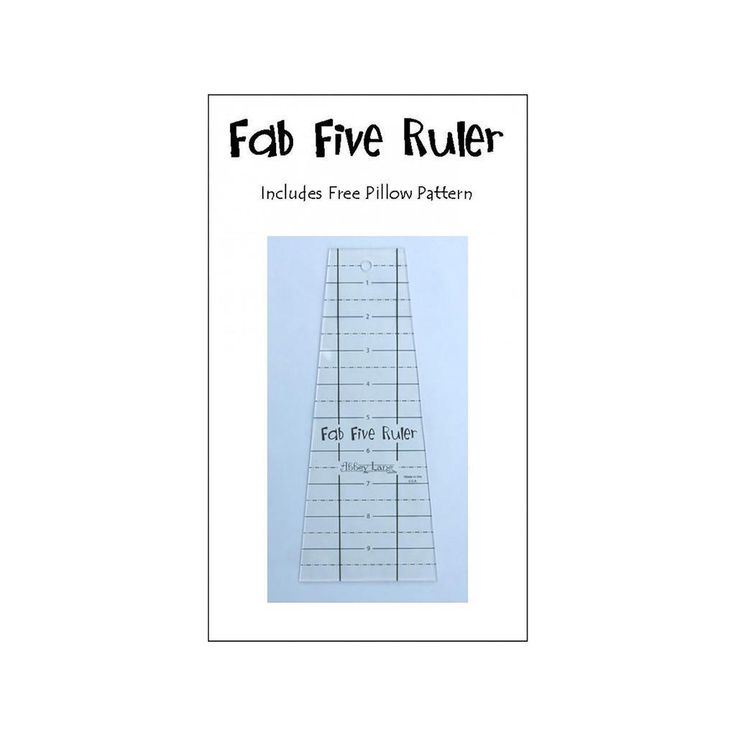 Abbey Lane Quilts Fab Five Acrylic Ruler