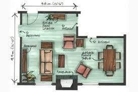 L shaped living room layout - interesting layout concept!
