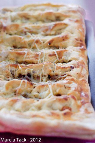 Fougasse rapide aux lardons et crème fraîche - Recette - Marcia Tack