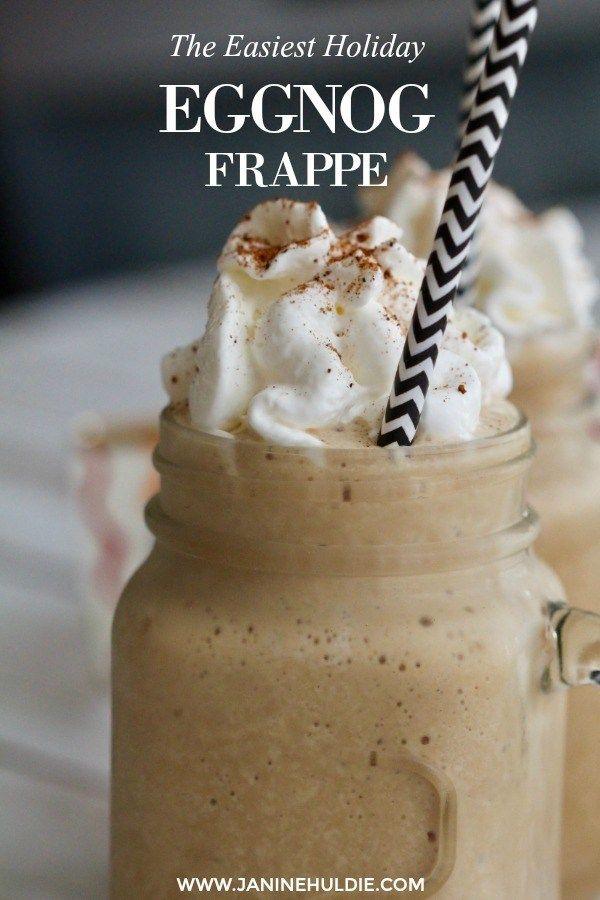 The Easiest Eggnog Frappe Recipe