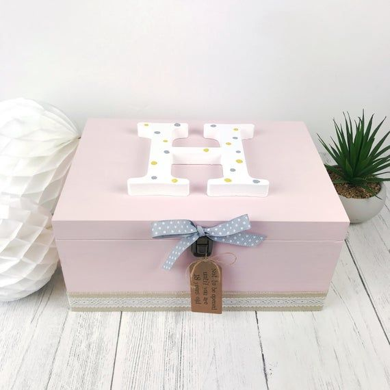 Birthday Christmas any design Large wooden memory box 18th Birthday or any age