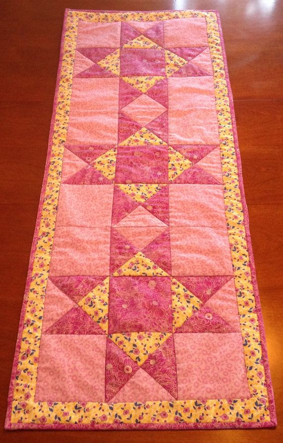 Pleasant Ohio Star Quilted Table Runner Handmade Quilt Table Download Free Architecture Designs Xaembritishbridgeorg