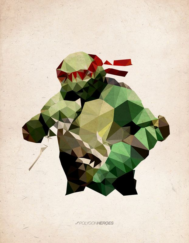 Polygon Superhero and Ninja Turtle Art — GeekTyrant
