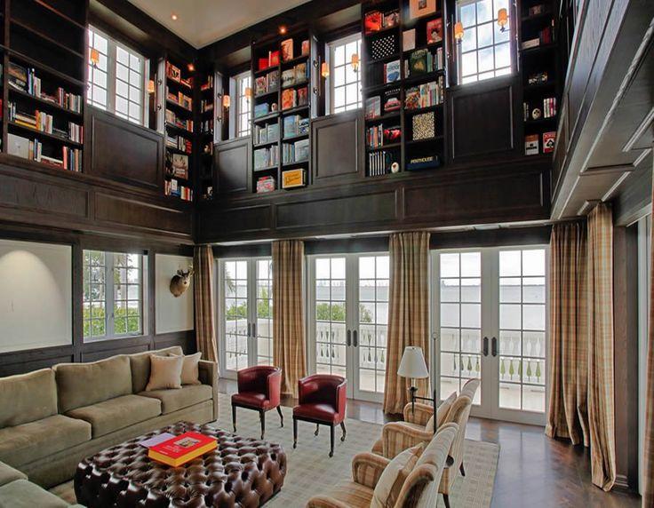 Evler İçin Kütüphane Dekorasyonları