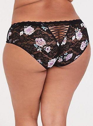 98b748041f0 Black Floral Cheekster Panty