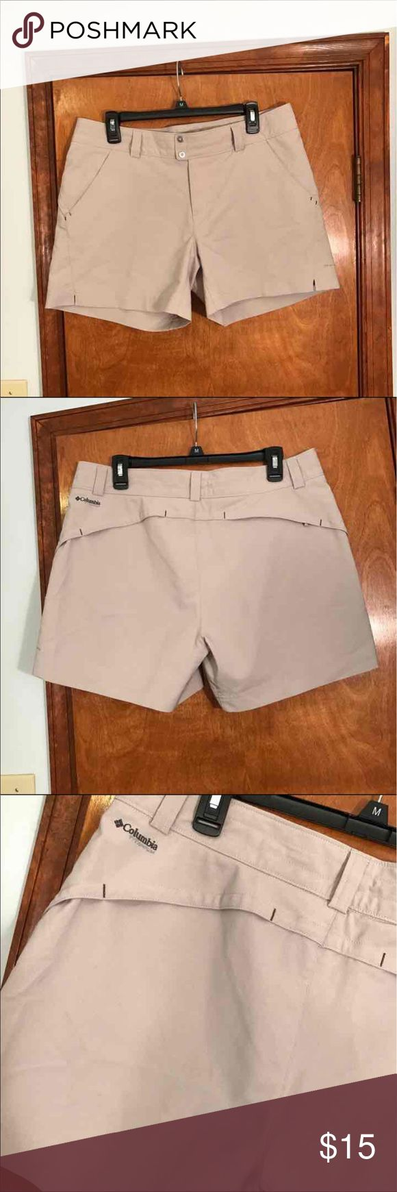 Columbia women's size 12 shorts!! Columbia, women's size 12, cream color, great condition :) perfect for spring and summer!   Hiking, outdoors Columbia Shorts